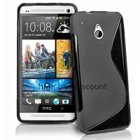 Housse etui coque pochette silicone gel pour HTC One Mini (M4) + film ecran - NOIR