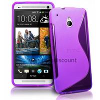 Housse etui coque pochette silicone gel pour HTC One Mini (M4) + film ecran - MAUVE