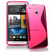 Housse etui coque pochette silicone gel pour HTC One Mini (M4) + film ecran - ROSE