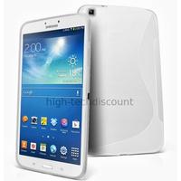 Housse etui coque gel pour Samsung p8200 p8210 Galaxy Tab 3 8.0 + film ecran - BLANC