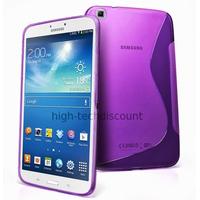 Housse etui coque gel pour Samsung p8200 p8210 Galaxy Tab 3 8.0 + film ecran - MAUVE