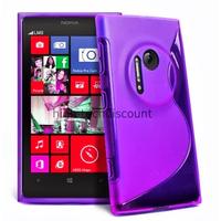Housse etui coque pochette silicone gel pour Nokia Lumia 1020 + film ecran - MAUVE