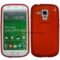 Housse etui coque silicone gel pour Samsung s7580 Galaxy Trend Plus + film ecran - ROUGE