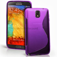 Housse etui coque gel pour Samsung Galaxy Note 3 n9000 n9005 + film ecran- MAUVE
