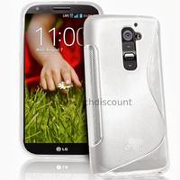 Housse etui coque pochette silicone gel pour LG G2 D802 + film ecran - BLANC