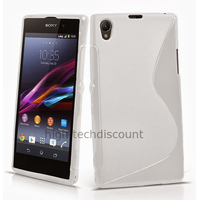 Housse etui coque pochette silicone gel pour Sony Xperia Z1 + film ecran - BLANC