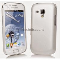 Housse etui coque pochette pour Samsung s7580 Galaxy Trend Plus + film ecran - BLANC RIGIDE