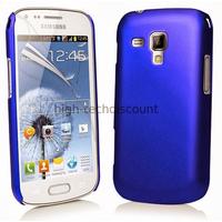 Housse etui coque pochette pour Samsung s7580 Galaxy Trend Plus + film ecran - BLEU RIGIDE