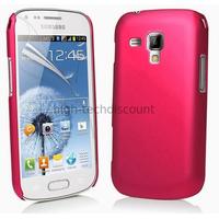 Housse etui coque pochette pour Samsung s7580 Galaxy Trend Plus + film ecran - ROSE RIGIDE