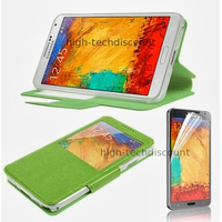 Housse etui coque pour Samsung Galaxy Note 3 n9000 n9005 + film ecran - VERT VIEW
