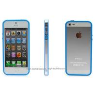 Housse etui coque bumper BLEU pour Apple iPhone 5 5S 5G + film ecran