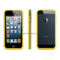 Housse etui coque bumper JAUNE pour Apple iPhone 5 5S 5G + film ecran