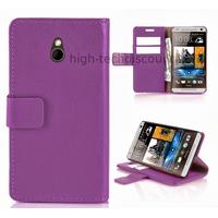 Housse etui coque portefeuille pour HTC One Mini (M4) + film ecran - MAUVE