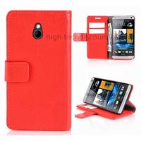 Housse etui coque portefeuille pour HTC One Mini (M4) + film ecran - ROUGE