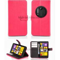 Housse etui coque portefeuille pour Nokia Lumia 1020 + film ecran - ROSE