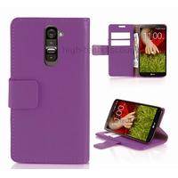 Housse etui coque portefeuille pour LG G2 + film ecran - MAUVE