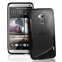 Housse etui coque pochette silicone gel pour HTC One Max + film ecran - NOIR