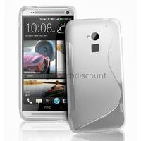 Housse etui coque pochette silicone gel pour HTC One Max + film ecran - BLANC