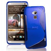 Housse etui coque pochette silicone gel pour HTC One Max + film ecran - BLEU