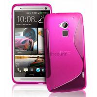 Housse etui coque pochette silicone gel pour HTC One Max + film ecran - ROSE