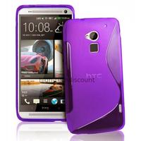 Housse etui coque pochette silicone gel pour HTC One Max + film ecran - MAUVE