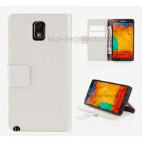 Housse etui coque portefeuille pour Samsung Galaxy Note 3 n9000 n9005 + film ecran - BLANC R