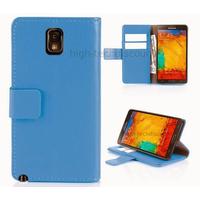 Housse etui coque portefeuille pour Samsung Galaxy Note 3 n9000 n9005 + film ecran - BLEU R