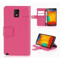 Housse etui coque portefeuille pour Samsung Galaxy Note 3 n9000 n9005 + film ecran - ROSE R