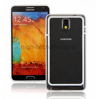 Housse etui coque bumper pour Samsung Galaxy Note 3 n9000 n9005 + film ecran - BLANC