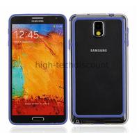 Housse etui coque bumper pour Samsung Galaxy Note 3 n9000 n9005 + film ecran - BLEU D
