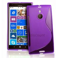 Housse etui coque pochette silicone gel pour Nokia Lumia 1520 + film ecran - MAUVE