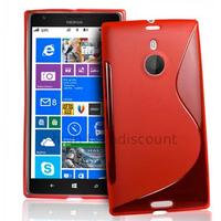 Housse etui coque pochette silicone gel pour Nokia Lumia 1520 + film ecran - ROUGE