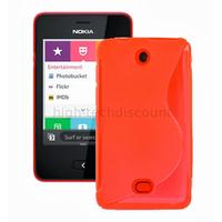 Housse etui coque pochette silicone gel pour Nokia Asha 501 + film ecran - ROUGE