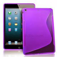 Housse etui coque silicone gel pour Apple iPad 5 Air + film ecran - MAUVE