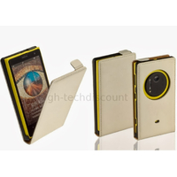 Housse etui coque pochette PU cuir fine pour Nokia Lumia 1020 + film ecran - BLANC