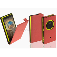 Housse etui coque pochette PU cuir fine pour Nokia Lumia 1020 + film ecran - ROUGE