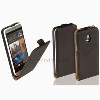 Housse etui coque pochette PU cuir fine pour HTC One Mini (M4) + film ecran - NOIR