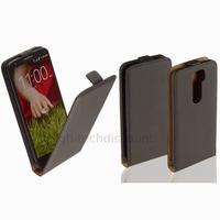 Housse etui coque pochette PU cuir fine pour LG G2 + film ecran - NOIR