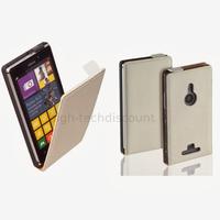 Housse etui coque pochette PU cuir fine pour Nokia Lumia 925 + film ecran - BLANC