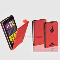 Housse etui coque pochette PU cuir fine pour Nokia Lumia 925 + film ecran - ROUGE