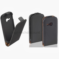 Housse etui coque pochette PU cuir fine pour Samsung Galaxy Young s6310 + film ecran - NOIR