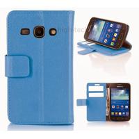 Housse etui coque portefeuille pour Samsung Galaxy Ace 3 s7270 s7275 + film ecran - BLEU