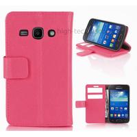 Housse etui coque portefeuille pour Samsung Galaxy Ace 3 s7270 s7275  + film ecran - ROSE