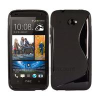 Housse etui coque pochette silicone gel pour HTC Desire 601 + film ecran - NOIR