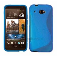 Housse etui coque pochette silicone gel pour HTC Desire 601 + film ecran - BLEU