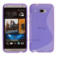 Housse etui coque pochette silicone gel pour HTC Desire 601 + film ecran - MAUVE