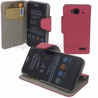 Housse etui coque pochette portefeuille pour Sosh le Mobile + film ecran - ROSE