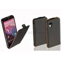 Housse etui coque pochette PU cuir fine pour Google Nexus 5 + film ecran - NOIR
