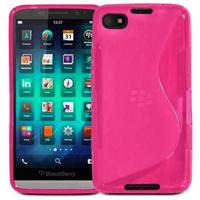 Housse etui coque pochette silicone gel pour Blackberry Z30 + film ecran - ROSE