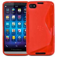 Housse etui coque pochette silicone gel pour Blackberry Z30 + film ecran - ROUGE